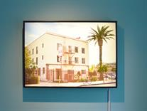 """Palm trees of Hollywood (from ""€-VSN"")"", 2015, photos on light boxes.  84,5x55 cm  (� S�ren H�ttel)"